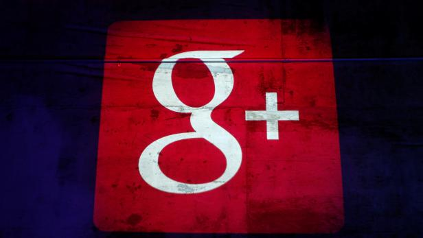 FILE PHOTO: Google Plus logo is projected on to the wall during a Google event in San Francisco