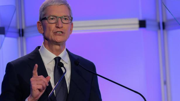 """Apple CEO Cook speaks at ADL's """"Never is Now"""" summit in New York"""