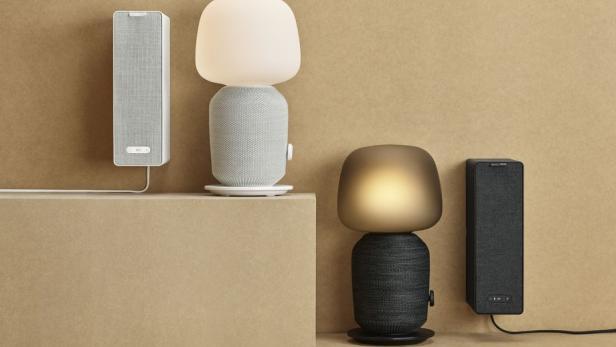 integriertem mit vor stellt Lautsprecher Ikea Lampe ZwPTliOkXu