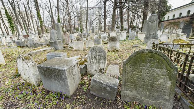 Begehung des jüdischen Friedhofes in Währing