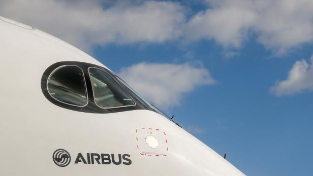 The Airbus A350-950 jet airliner is seen at the MAKS 2019 air show in Zhukovsky, outside Moscow