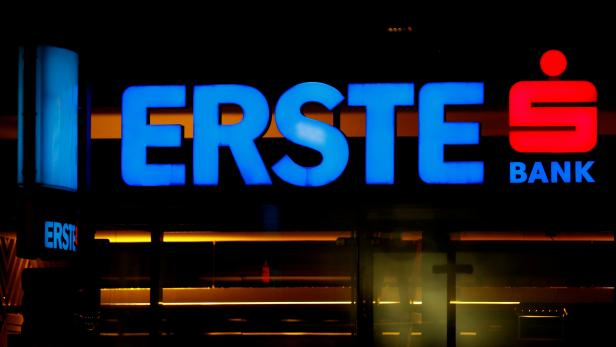 FILE PHOTO: The logo of Erste Group Bank is seen outside of one of its branch offices in Vienna