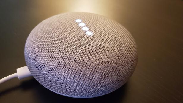 Google Home smart speakers are shown in San Francisco