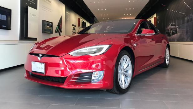 FILE PHOTO: FILE PHOTO: FILE PHOTO: A Tesla Model S car is seen in a showroom in Santa Monica