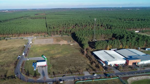 Tesla plant Fabrik in Brandenburg