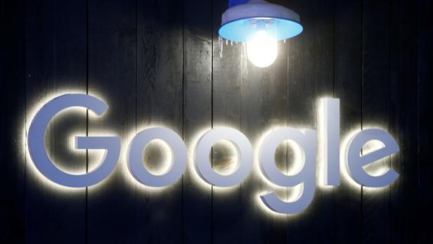 Logo of Google is seen in Davos
