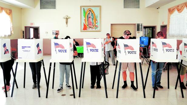 Voters cast ballots in the 2018 midterm elections