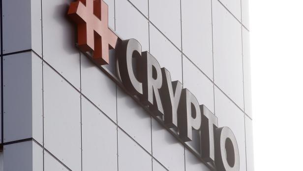 Logo of Crypto AG  is seen in Steinhausen