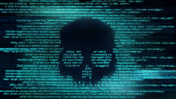 Ransomware And Code Hacking Background