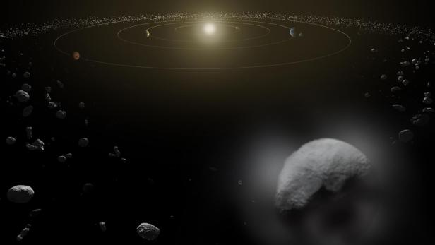 Dwarf planet Ceres is seen in the main asteroid belt, between the orbits of Mars and Jupiter released by NASA