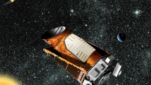 FILE PHOTO: An artist's composite of the Kepler telescope is seen in this undated NASA handout image