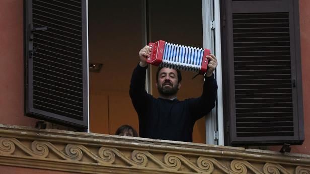 Day four of Italy's nationwide coronavirus lockdown, in Rome