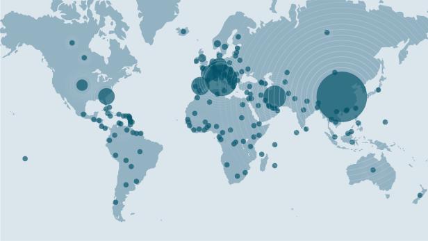 Corona Hotspots Weltweit