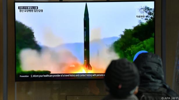Südkoreanisches TV zeigte Bilder des Raketenstarts