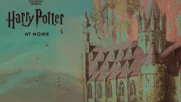 An undated handout photo shows illustration of Hogwarts school on the Harry Potter At Home website as J.K. Rowling has announced initiatives to help children, parents, carers and teachers confined at home during the coronavirus disease (COVID-19) outbreak