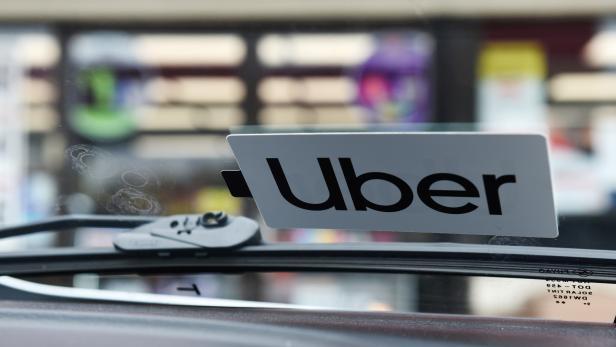 FILE PHOTO: An Uber sticker is seen on Margaret Bordelon's car in Lafayette, Louisiana