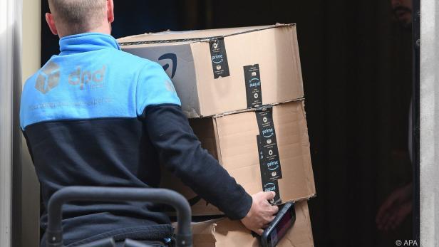 Auslieferung von Amazon-Paketen