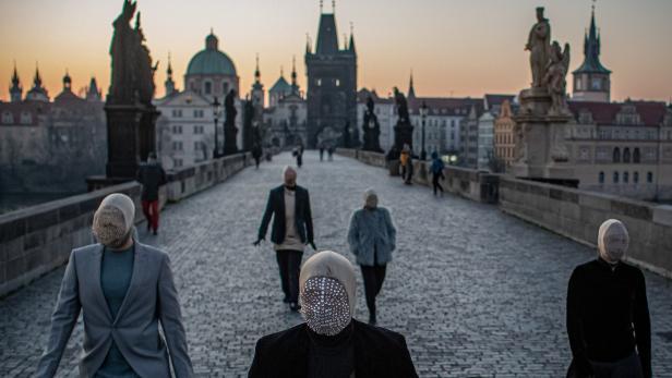 Street artists perform amid coronavirus COVID-19 pandemic