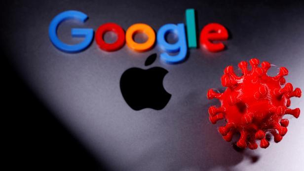 FILE PHOTO: 3D printed coronavirus model and Google logo