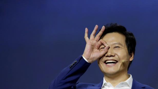 Xiaomi founder and CEO Lei Jun attends a launch ceremony of the new flagship phone Xiaomi Mi 9 in Beijing