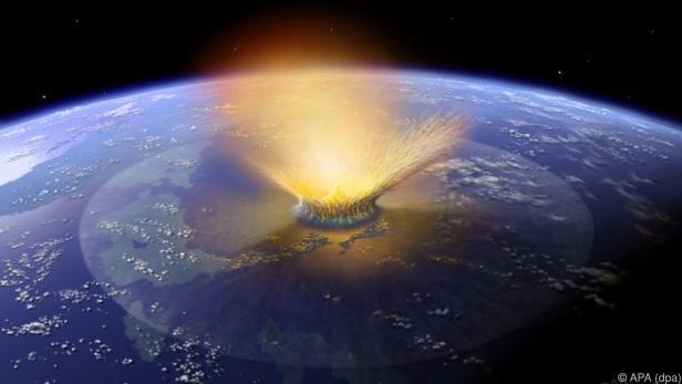 Einschlags eines Asteroiden auf Yucatan am Ende der Kreidezeit