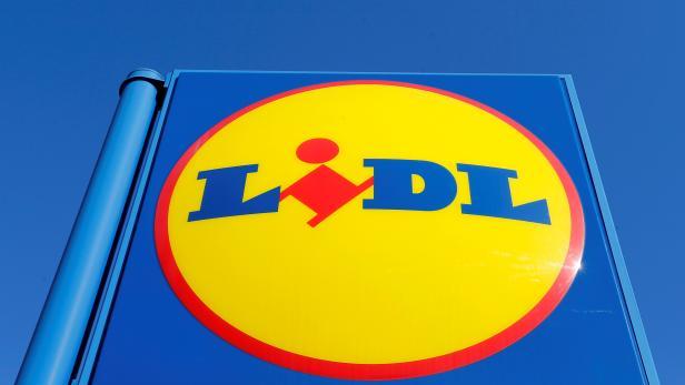 The logo of retailer Lidl is seen in Bordeaux