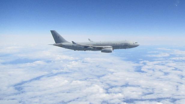 RAF Typhoon aircraft intercep Russian aircraft over North Sea