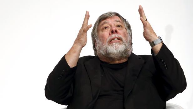 Apple co-founder Steve Wozniak speaks during the South Summit in Madrid
