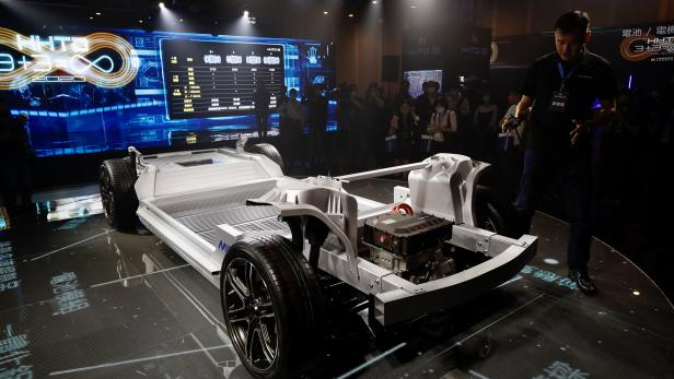 Foxconn unveils its first open electric car hardware and software platform