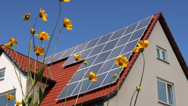 Solarzellen am Dach
