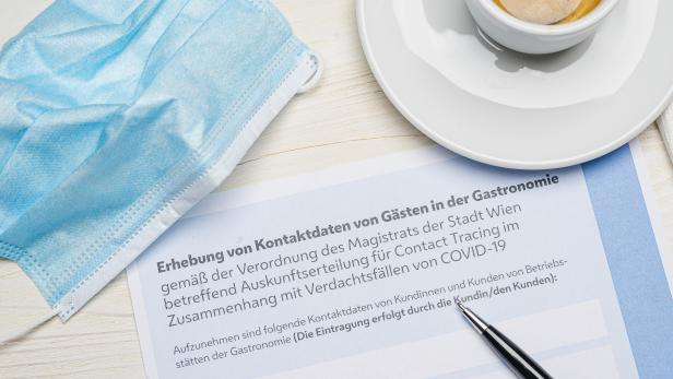 Erhebung der Daten von Gästen in der Wiener Gastronomie während der Corona-Pandemie
