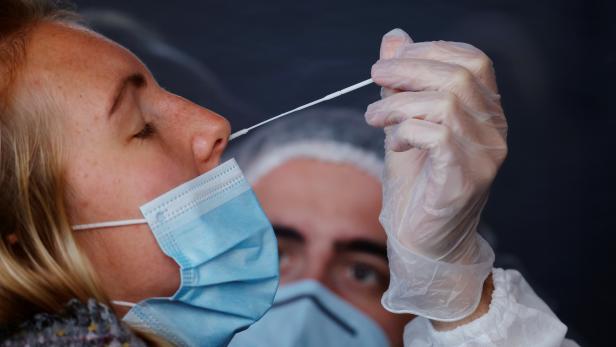 Coronavirus disease (COVID-19) testing centre in Lille