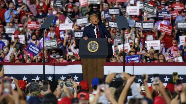 US-PRESIDENT-TRUMP-RALLIES-HIS-SUPPORTERS-IN-NORTH-CAROLINA