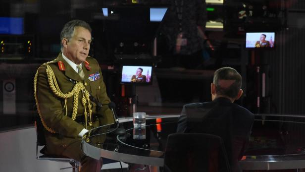 Britain's Chief of Defence Staff Carter appears on BBC TV's The Andrew Marr Show in London