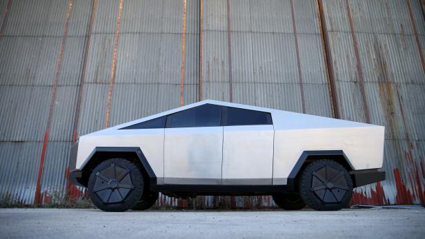 Tesla Cybertruck replica is seen in Mostar