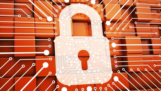 Lock. Internet Security Concept