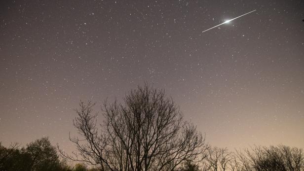 Lyrid meteor shower over Austria