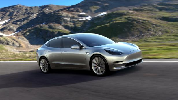 Tesla Model 3 electric car in production