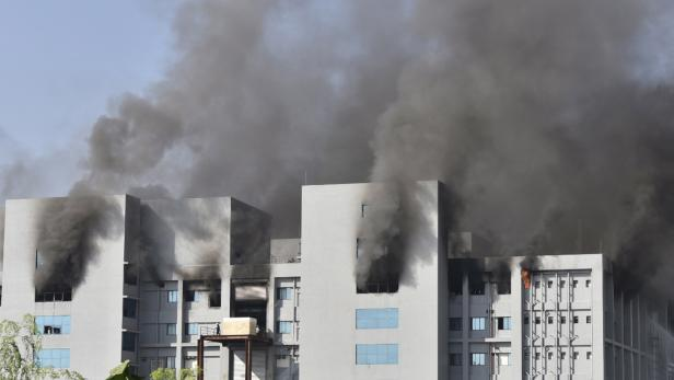 Fire at the Serum Institute of India's Pune facility in India