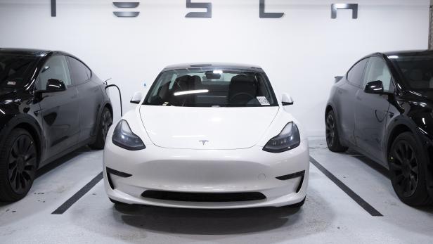 Tesla test-drive vehicles used by a Tesla dealership in Washington, DC