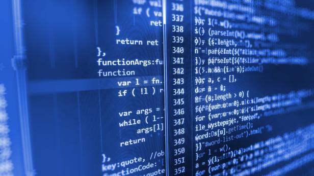 Computer source code programmer script developer.