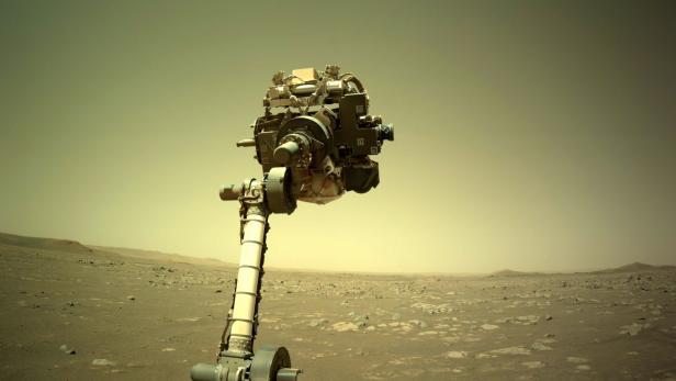 NASA Perseverance Rover robotic arm checks