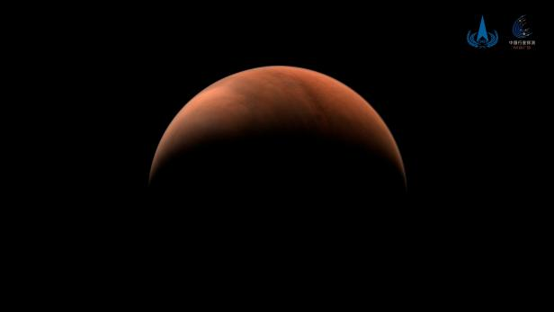 Handout image of Mars taken by China's Tianwen-1 unmanned probe