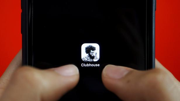 FILE PHOTO: Illustration picture of social audio app Clubhouse