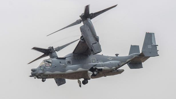 US Air Force aircrafts conduct a demonstration flight in Budapest