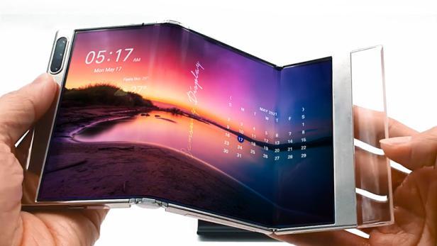 Samsung zeigt ein s-förmig ausziehbares Display