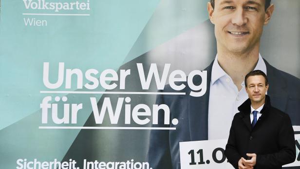 """WIEN-WAHL: PLAKAT-PRÄSENTATION ÖVP WIEN """"JETZT. FÜR WIEN"""": BLÜMEL"""