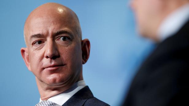FILE PHOTO: Jeff Bezos, founder and CEO of Amazon, speaks in Washington