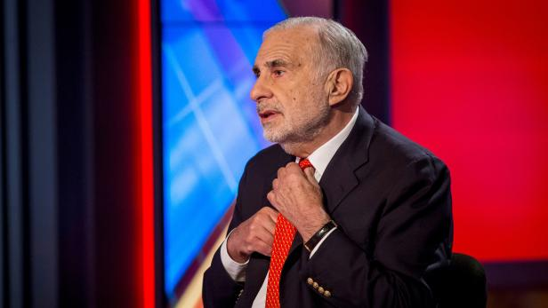 FILE PHOTO: Carl Icahn gives an interview on FOX Business Network in 2014