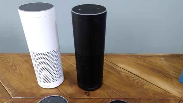 FILE PHOTO: The Amazon Echo, a voice-controlled virtual assistant, is seen at its product launch for Britain and Germany in London, Britain